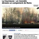Incendie d'un campement rom